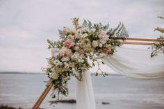 Hexagon Arch Florals- blush and cream Flower Studio, Wedding Shoot, Florals, Arch, Blush, Romantic, Table Decorations, Cream, Creative