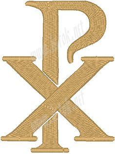 Resultado de imagen para Chi-Rho Chi Rho, Crucifixion Of Jesus, Jesus Christ, Christ In Greek, Cross Drawing, Christian Symbols, Religious Symbols, Machine Embroidery Designs, Drawings