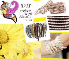 Мастер класс по созданию браслета с жемчужинами DIY Wrap pearl bracelet   Nissa's tips