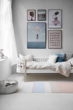 That bed! Like the wall art but too muted for me to really mimic.