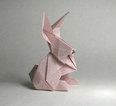lapin origami comment plier le papier pour créer origami