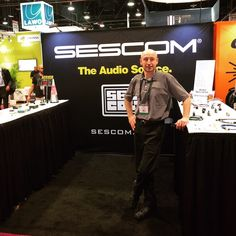Stop by and see our buddy Franz at #Sescom, the audio source! C2646