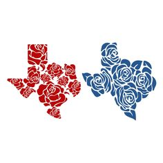 Roses of texas svg cuttable design Glue Crafts, Vinyl Crafts, Silhouette Design, Silhouette Cameo, Silhouette Projects, Rose Stencil, Mandalas Painting, Design Tattoo, Spring Projects