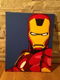16 by 20 Iron Man pop art Painting Superhero Canvas, Superhero Pop Art, Iron Man Kunst, Iron Man Pop, Avengers Painting, Marvel Paintings, Mini Canvas Art, Kids Canvas, Marvel Drawings