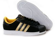 Adidas Originals Superstar Chaussures Or Noir Femmes Solde Adidas Original