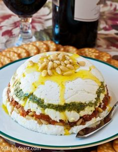 Goat Cheese, Pesto and Sun-Dried Tomato Terrine. Now you know how to make terrine.