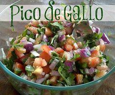Pico de Gallo (and my menu plan for the week!) | TheMarathonMom.com