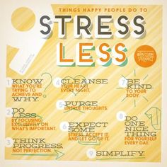 Nine tips to #stress less. #MindfulLiving OurMLN.com