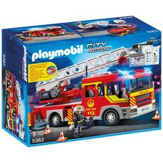 Playmobil 5362 : Camion de pompier avec échelle pivotante - Playmobil-5362