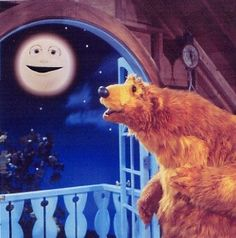 Bear in the Big Blue House - Only vaguely remember watching it but the moon (Luna) is so familiar...