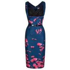 Vanessa Midnight Poppy Dress | Vintage Inspired Fashion - Lindy Bop