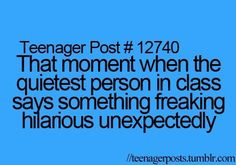 Omg this happened in fifth grade and everyone was silent for a second and then everyone started cracking up including the teacher!