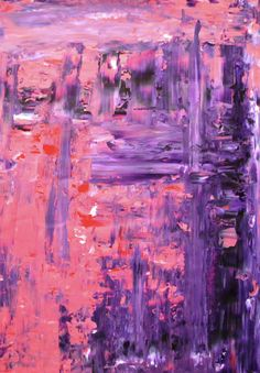 Acrylic Abstract Art Painting Pink, Purple, Red, White - Modern, Contemporary, Original 18 x 24