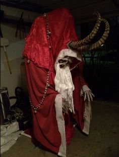 Sure to traumatise any child expecting to see jolly Father Christmas in the sky, Joseph Fotinos' creation was approved by Krampus director Mike Dougherty.