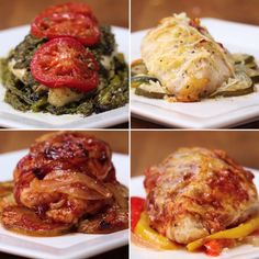 Parchment-Baked chicken 4 ways. parchment-baked chicken 4 ways tasty chicken videos, healthy tasty recipes Tasty Videos, Food Videos, Cooking Videos, Tasty Chicken Videos, Tasty Chicken Recipes, Recipe Videos, Good Food, Yummy Food, Yummy Mummy