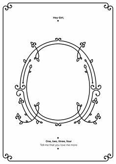 Romantic Typographic Numerals Chart A Designer's Love For His Girlfriend - DesignTAXI.com