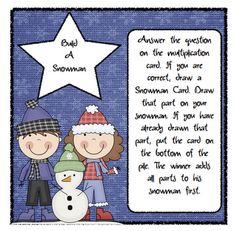 Math - Multiplication - Build a Snowman Multiplication -- Pitner's Potpourri Freebie