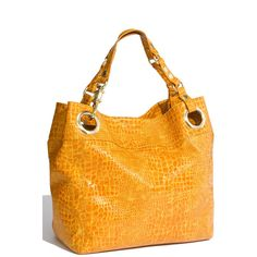 Steven By Steve Madden 'Candy Coated' Croc Embossed Tote ($49) found on Polyvore