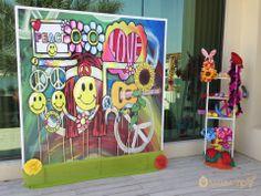 Flower Power Photobooth #photobooth #pictures #decor #colorful #flowers #theme #flowerpower #birthday #party #props #groovy 60s Theme, Party Props, Colorful Flowers, Photo Booth, Flower Power, Birthday, Pictures, Ideas, Decor