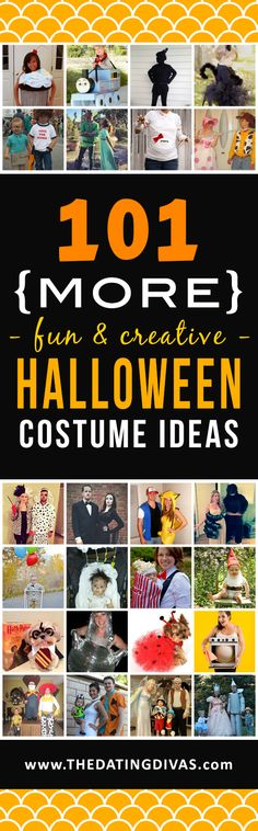Love these super easy Halloween costume ideas! Lots of DIY too! www.TheDatingDivas.com
