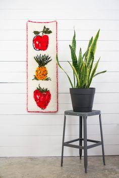Vintage Fruit Latch Hook Yarn Art Fruit Trend Home by KOLORIZE