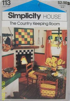 Simplicity House Sewing Pattern 113 Country keeping Room Easy to Follow Cards #Simplicity