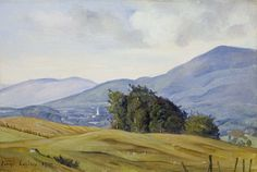 """""""View of the Valley,"""" Luigi Lucioni, 1940, oil on Masonite, 6 × 9 1/4"""", Gerald Peters Gallery."""