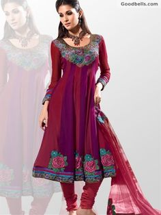 Buy beautiful Maroon & Violet Shade Anarkali Shalwar Kameez in just $115.00 from http://goodbells.com/salwar-suits/maroon-and-violet-shade-anarkali-shalwar-kameez.html?utm_source=pinterest_medium=link_campaign=pin29mayR22P19