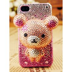 iPhone Cute Bear Shiny Crystals Back Cover for girls 3d Iphone Cases, Iphone Cases For Girls, Iphone 3, Ipod Cases, Cool Phone Cases, Samsung Cases, Uncommon Gifts, Cute Cases, Cute Bears