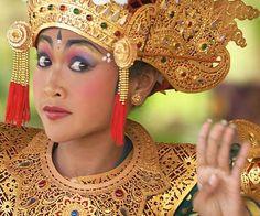 Expressive eyes in Balinese dance.