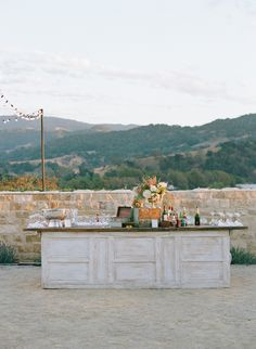 The Outdoor Bar Setup at Lauren Conrad's Wedding