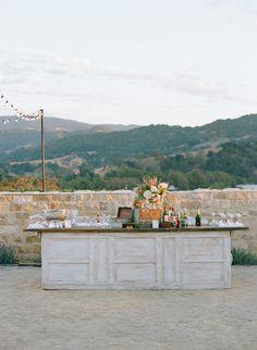 The Outdoor Bar Setup at Lauren Conrad's Wedding