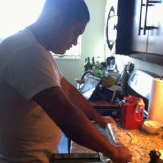 Tino making pasta!
