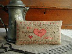 Primitive Cross Stitch Sampler Pattern BE by threadworkprimitives, $9.00
