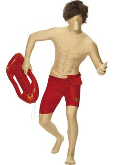 Become David Hasselhoff with our Baywatch Second Skin Costume, which combines a second skin suit with the iconic lifeguard outfit. A hilarious fancy dress idea that would be perfect for a TV themed party. Costume Hire, Adult Costumes, Costume Ideas, Hot Beach, Beach Babe, Lifeguard Outfit, Baywatch Costume, Green Tutu, Baywatch