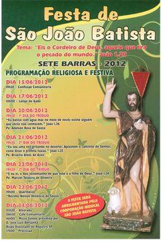 Festa de São João Batista em Sete Barras-SP - Brazil