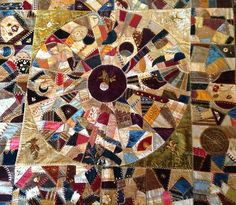 Exquisite Crazy Quilt Late 1800s One Womans Art | eBay