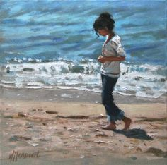 Beachwalk | painting by Richard van Mensvoort