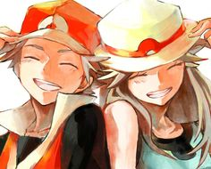 red green trainers match hats pokemon artwork