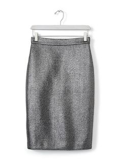 9cadcaec7c9b22 Gunmetal Jacquard Pencil Skirt | Banana Republic Bananenrepubliek, Rokken