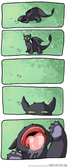 Toothless…how adorable!