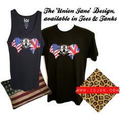 The #ICJUK #Union Jane design. #unionjack #USA