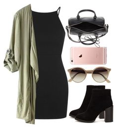 """Untitled #697"" by londonexclusive ❤ liked on Polyvore featuring Topshop, Nly Shoes, Ray-Ban and Yves Saint Laurent"