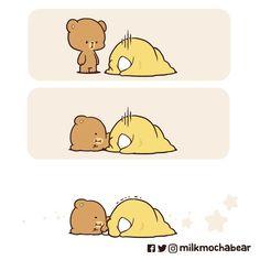 Cute Bear Drawings, Cute Cartoon Drawings, Cute Cartoon Pictures, Cute Love Pictures, Cartoon Images, Cute Emoji Combinations, Bear Sketch, Bear Gif, Sweet Memes
