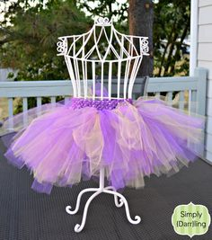 UW Huskies Inspired Tutu in Purple & Gold Tulle. Perfect for tailgating! #football #tutu