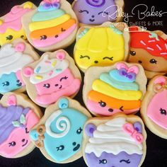 Nom Nums Cookies, Nom Nums Party, Nom Nums Birthday Party Favors, Nom Nums Cake by RileyBakes on Ets Hawaiian Birthday, 4th Birthday, Birthday Ideas, Birthday Party Favors, Birthday Parties, Shopkins Cookies, Lila Party, Sock Hop Party, Party Names