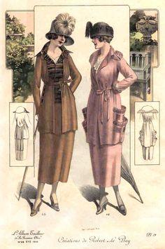 jillthejellyfish:  La Femme Chic, 1919