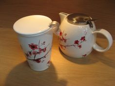 Tea Forte.  Rose Blossom design, choose tea pot or tea cup - or both!  Available at Best of Friends Gift Shop in the lobby of Winnipeg's Millennium Library. 204-947-0110 info@friendswpl.ca Gifts For Friends, Tea Pots, Cups, Rose, Tableware, Shop, Design, Mugs, Pink