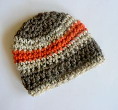 69354f161b1 Items similar to Stunning Baby Boy Hat Browns and Orange Newborn Newborn  Infant Baby Hats Ready on Etsy