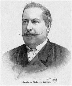 Ludwig I König von Portugal Holzschnitt 1893